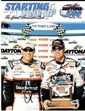 02 DAYTONA 500 Starting LineUp Kevin Harvick & Jimmie Johnson Autograph  AD10137