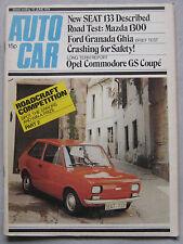 Autocar 15/6/1974 featuring SEAT 133, Mazda 1300, Ford Granada, Opel Commodore