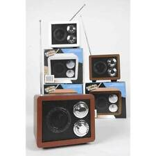 MINI RADIO RETRO PORTATIVE CAMPING VOYAGE  STYLE BOIS A PILE NEUVE 15