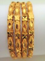 Gold Plated Women's 4 PS Fashion Bangles  Indian Bollywood Traditional Bracelets