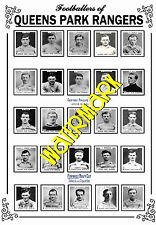 QUEENS PARK RANGERS - 1920's PINNACE CARDS TEAM POSTER