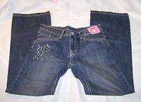 Gymboree Girls Jeans Size 10 Denim Blue Pants Adjustable Waist Paint Splatter