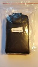 Vertical style PU leather flip case to fit Blackberry curve 8520, 9300 black