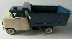 Vintage Structo Dump Truck Pressed Steel Truck Blue & Cream - REPAINTED  - GL36