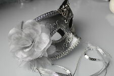 Masquerade Carnival Eyemasks Feather Lace Tassel Party Masked Ball on Headband