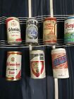 Vintage Lot Of 15 Different Beer Can Names And Brands