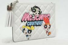MOSCHINO MINI QUILTED CARTOON PRINT CLUTCH BAG $480