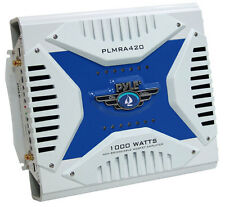 NEW PYLE PLMRA420 1000w 4 Channel Marine Audio Amplifier Sub Amp Waterproof