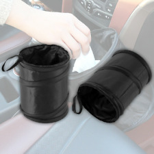 1Pc Black Car Dust Bin Storage Bucket Trash Can Container  Garbage Bag Foldable