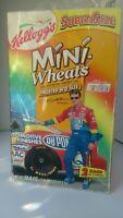 Vintage 1999 Kellogs Super Size Mini Wheats w/NASCAR #24 DuPont pit crew set JG