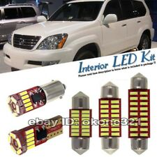15-pc Xenon White Interior LED Lights  Package Kit Fit 03-09 Lexus GX470