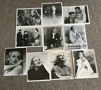 Lot of 10 CAROLE LOMBARD 8x10 black and white photographs