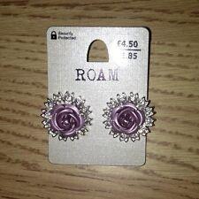 Womens Roam Purple Rose New Look Earrings