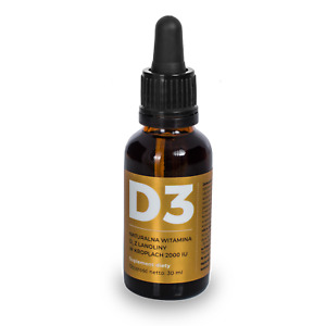 Visanto natural vitamin D3 from lanolin 2000IU 30 ml Jerzy Zieba, FREE P&P