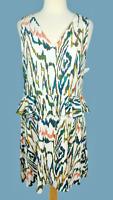 NWT 1. State Dress Size M Sleeveless Multicolor Peplum Waist