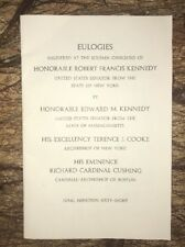 Original 6/10/68 Robert F. Kennedy Eulogies The Solemn Obsequies Opening Boston