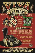 VIVA LAS VEGAS ROCKABILLY 2016 CONCERT TOUR POSTER - Brian Setzer, Dick Dale