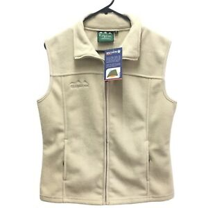 Ridgeline Avoca Fleece Full Zip Sand Vest Womens Size 8 New With Tags