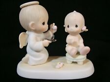 New ListingPrecious Moments-Baby's 1'St Haircut-Rare-Suspended 1987