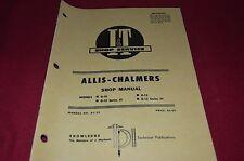 Allis Chalmers D-10 D-12 Tractor I&T Shop Manual DCPA6