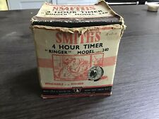 VINTAGE SMITH 4 HOUR MINUTES TIMER GOOD WORKING MADE IN ENGLAND IN ORIGINAL BOX