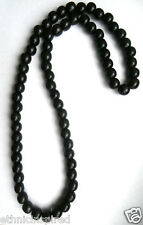 "AFRICAN ETHNIC INSPIRED MENS 32"" LIGHT WEIGHT BLACK WOOD BEADS LONG NECKLACE"