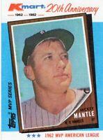 1982 TOPPS / KMART BASEBALL MVP CARD # 1 - HOF MICKEY MANTLE - NEW YORK YANKEES
