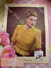 Vintage 1950s Sirdar Lady's Suit Knitting Pattern