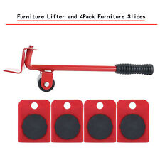 Heavy Furniture Moving System Lifter Kit with 4Pcs Slider Pad  Roller Move Tool