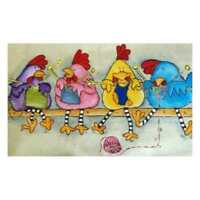 Full Drill Chicken DIY 5D Diamond Painting Embroidery Cross Craft Stitch Decor