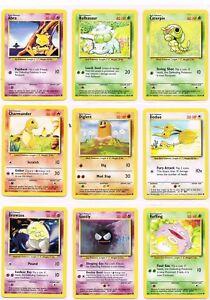 RARE - POKEMON BASE 1999-2000 SET CARDS - COMMONS - BEST ON EBAY - PACK FRESH