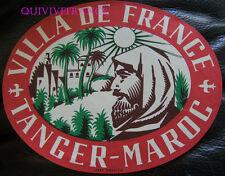 ETIQUETTE BAGAGE -   VILLA DE FRANCE - TANGER - MAROC