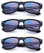 BULK 6PC LOT KIDS USA Flag Lens Retro Square Patriotic Sunglasses Boys Girls