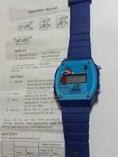 New Nintendo Super Mario Bros. 1989 Ice Capades Watch Untested Blue * Rare Promo