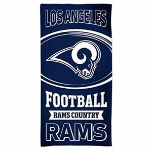 "WinCraft NFL Los Angeles Rams  Beach Towel 30"" x 60"" Block Letters  NEW!!"
