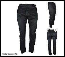 jeans g star pantaloni g-star raw chino tapered nero largo cargo cotone 48 w33