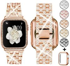 Bling Diamond Band Strap+Protective Case For AppleWatch iWatch Series 5 4 3 2 1