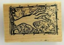 """""""QUEST"""" Collage Hand and Map Lynne Perrella ACEY DEUCY AA-641 Rubber Stamp"""
