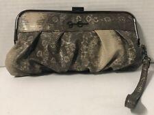 Jessica Simpson Rattle Snake Print Clutch Wristlet With Key Flob