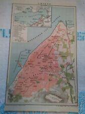 SMYRNA ASIA MINOR GREECE GREEK CITY  MAP BEFORE 1922 RARE