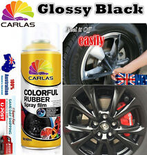 4x Gloosy Black Removable Rubber Paint Plasti Dip Wheel Rim Spray Rubber Paint