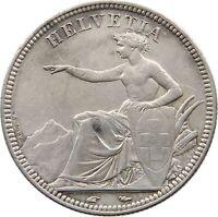 SWITZERLAND 5 FRANCS 1851 #t89 341
