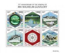 Sierra Leone - 2020 Mv Wilhelm Gustloff Schiff - 5 Briefmarke Blatt - SRL200102a