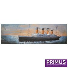 Titanic Ship 3d Hand Crafted Metal Wall Art Picture Sculpture STUNNING by Primus
