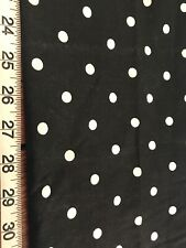 """AS IS Black & White Polka Dot Cotton Sewing Fabric *Imperfect* 18"""" x 30"""" ~ #1607"""