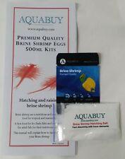 Brine (Artimia) Shrimp Eggs and Salt packs 500mL - 1 pack - Grow live fish food