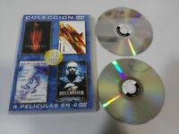 SCANNERS 1 + 2 + 3 + HELLRAISER 2 X DVD ESPAÑOL ENGLISH TERROR HORROR 4 PELICULA