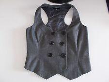 Women's Grey Silver Shimmer Scoop Neck Waistcoat Vest by Warehouse Size 8