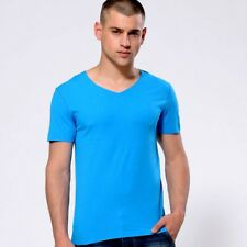 Men's Burton Menswear V-Neck Short Sleeve T-Shirt, Bright Blue size: M