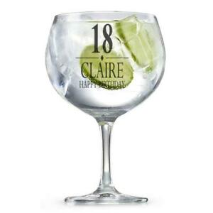 Personalised Birthday Gin Glass Gift 18th, 21st, 30th, 40th, 50th, 60th GIN3